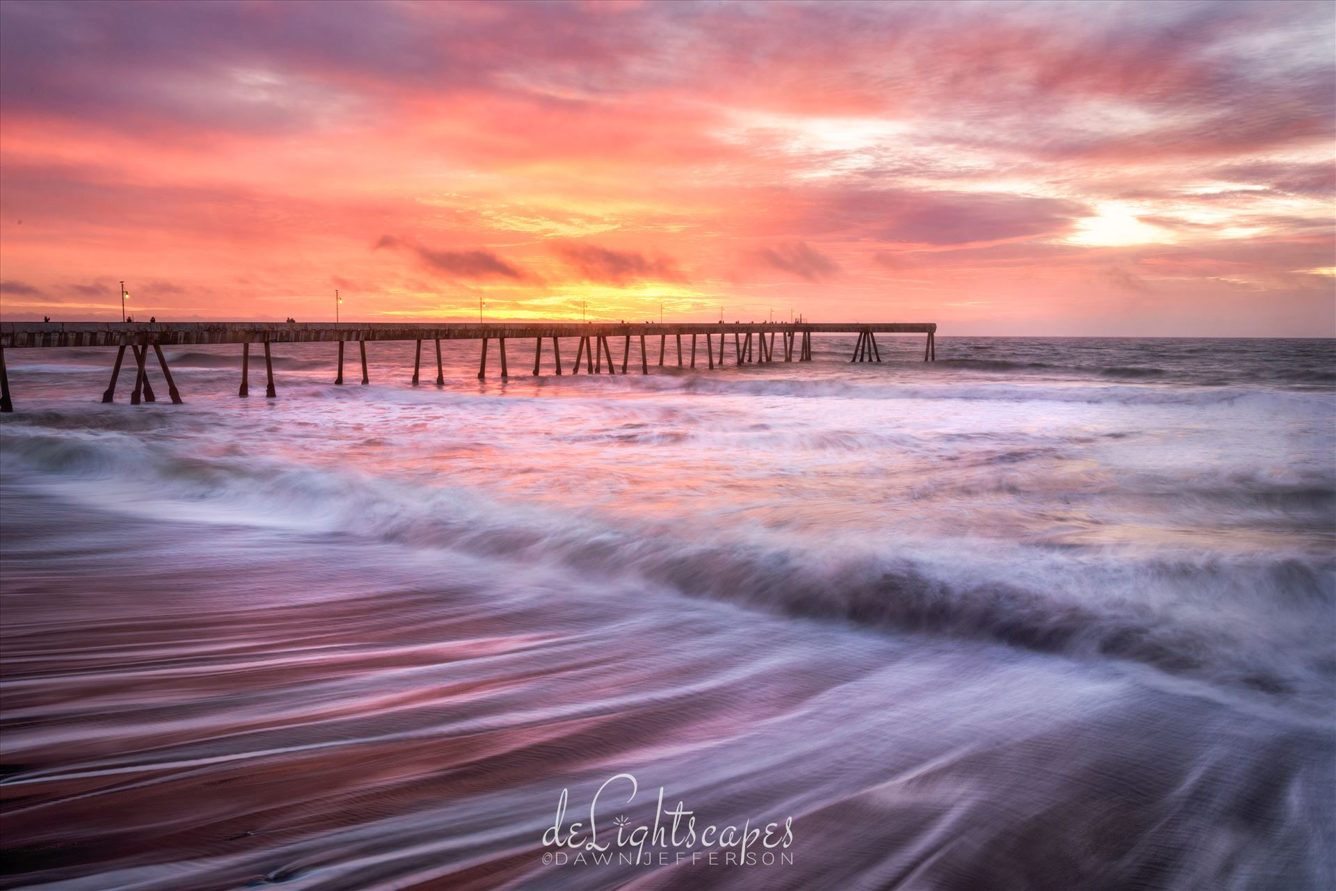 Sunset at the Pier -  by Dawn Jefferson