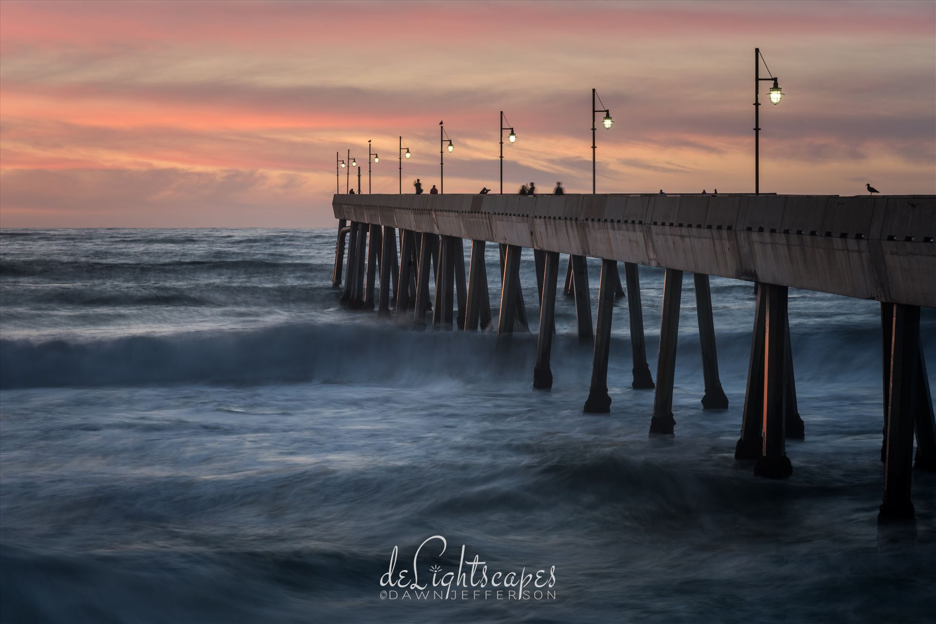 Pacifica Pier at Twilight -  by Dawn Jefferson