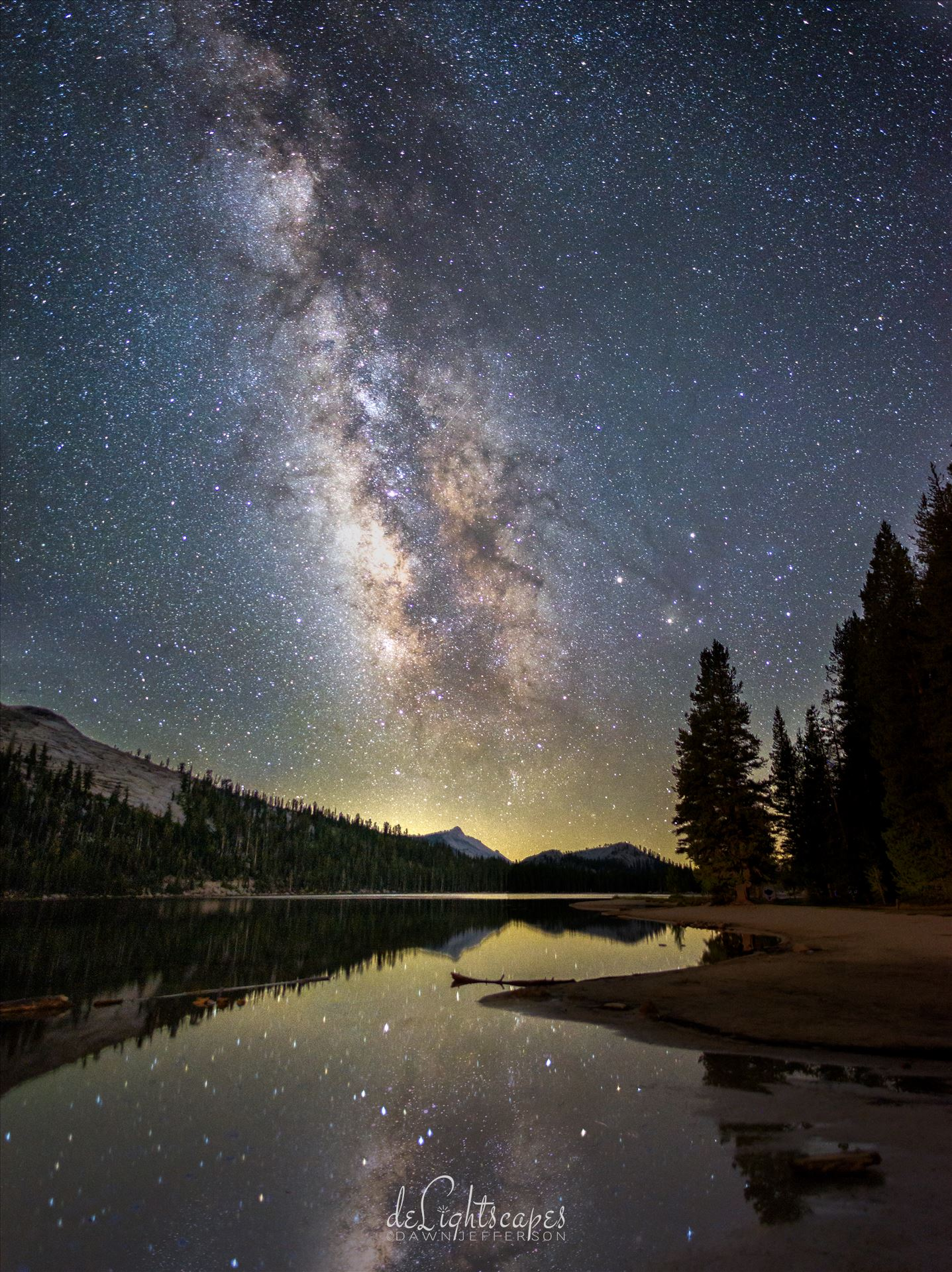 Milky Way over an Alpine Lake -  by Dawn Jefferson