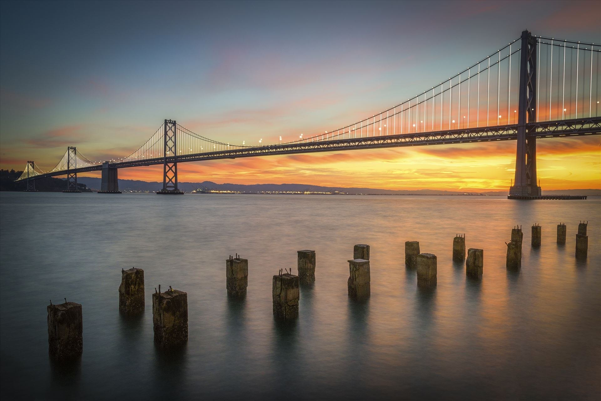 Bay Bridge Sunrise -  by Dawn Jefferson