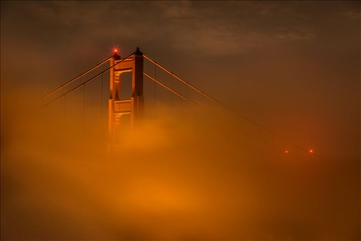 Fog Dance - Fog envelopes the Golden Gate Bridge