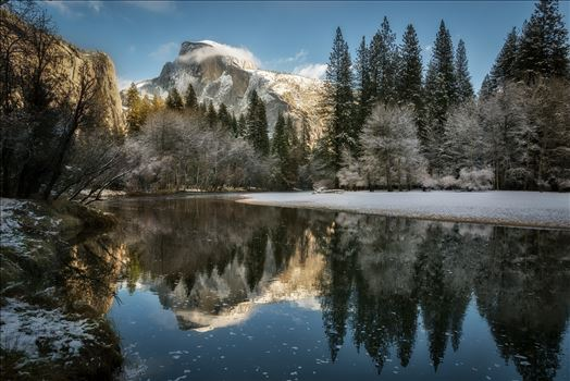 Reflecting on Half Dome in Winter - Yosemite National Park in winter is magical, especially when you can catch Half Dome reflecting so nicely on the Merced River.