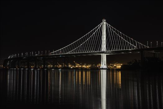 Color Guard - The Bay Bridge and the port of Oakland reflecting on the San Francisco bay.