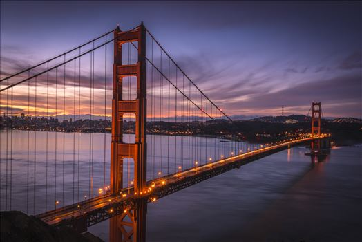 Dawn at the Golden Gate - The Golden Gate Bridge as the sun begins to rise.