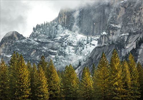 Fall Snow Dusting in Yosemite -